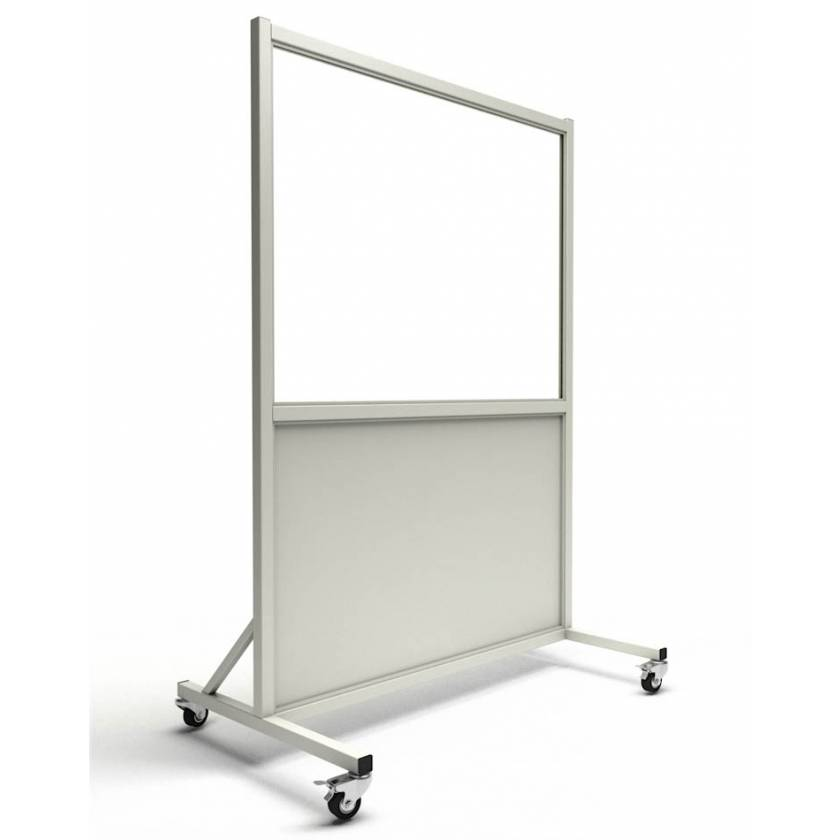 """Phillips Safety LB-3648 Mobile Lead Barrier Glass Window Size 30"""" H x 48"""" W"""
