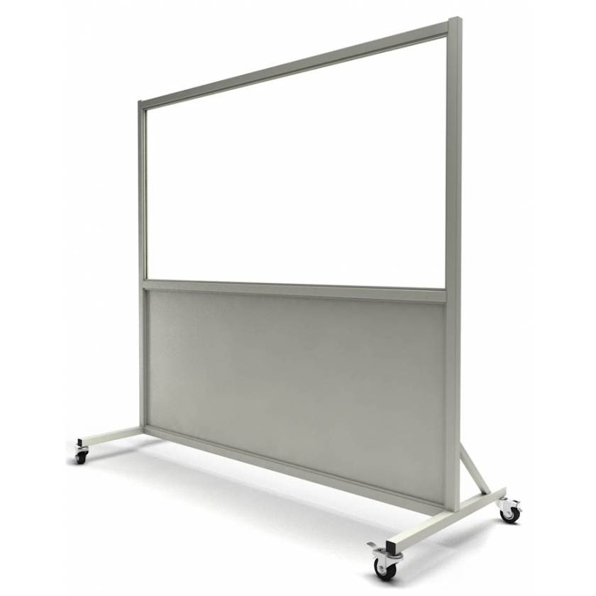 """Phillips Safety LB-3672-ACR Mobile Lead Barrier Acrylic Window Size 36"""" H x 72"""" W"""