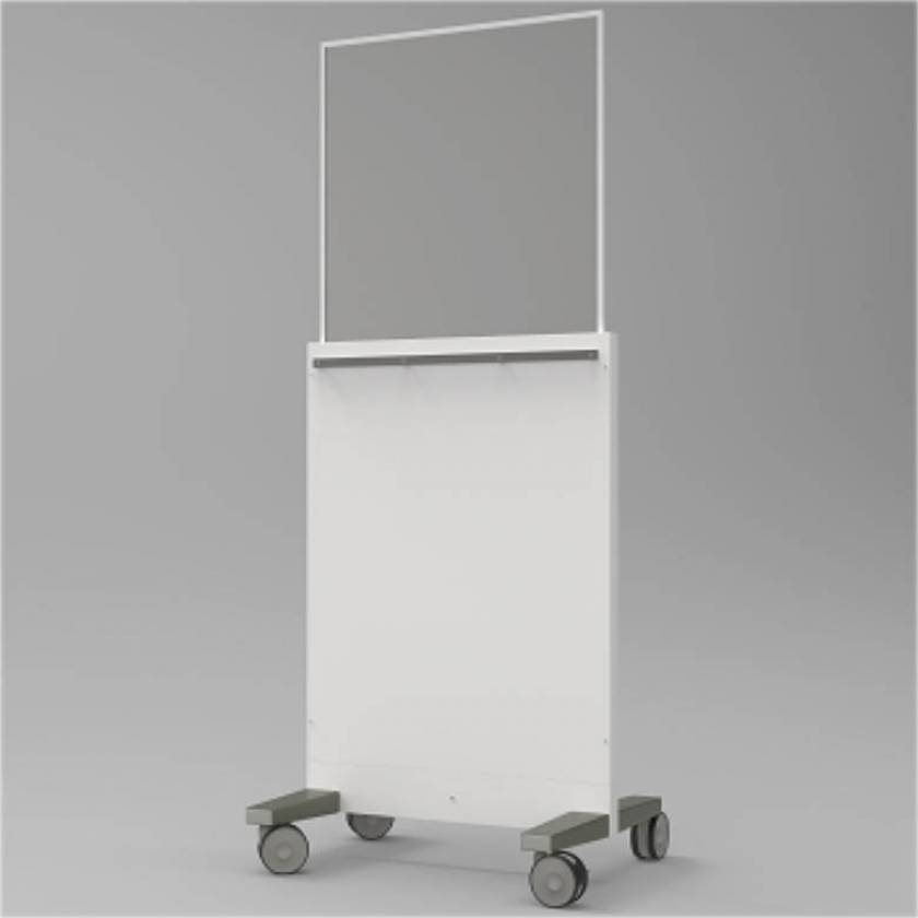 """Collapsible Mobile Lead Barrier - Acrylic Window Size 28"""" H x 28"""" W"""