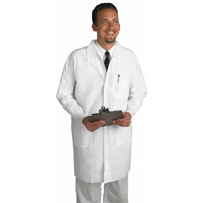 AlphaGuard Lab Coats with Knit Cuff