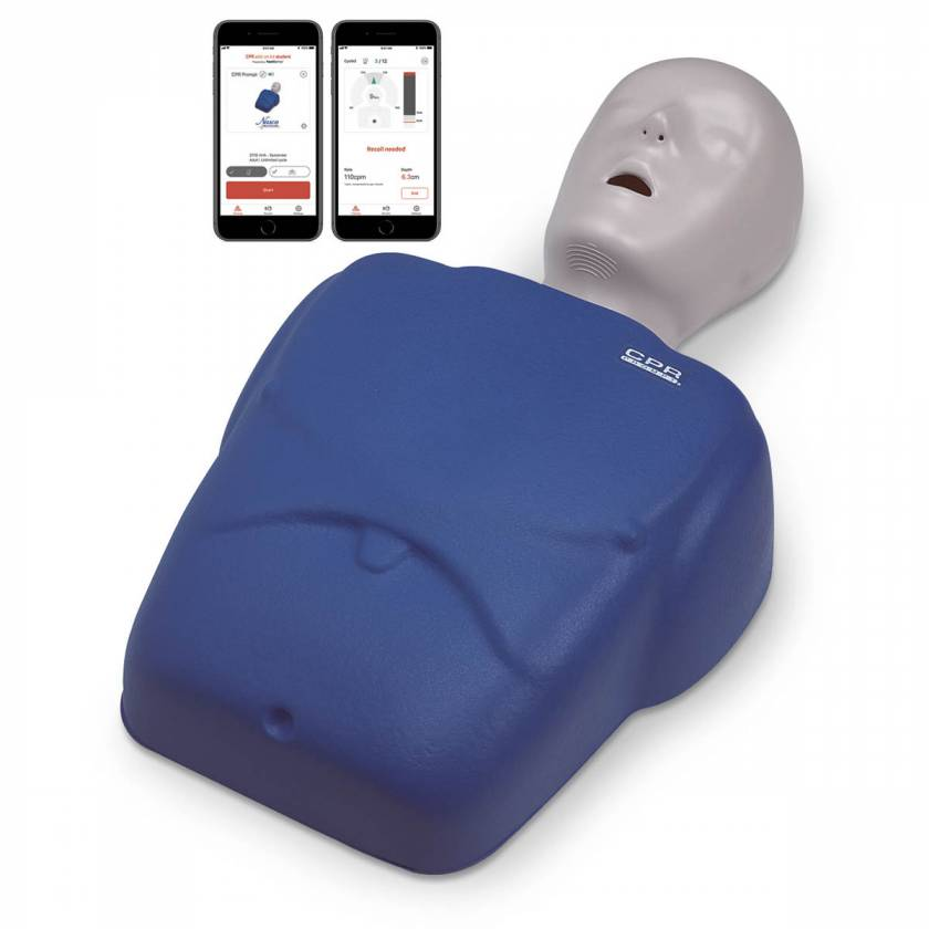 LF06001A CPR Prompt Plus Powered by Heartisense Training and Practice Adult/Child Manikin - Single, Blue (iPhone NOT INCLUDED)
