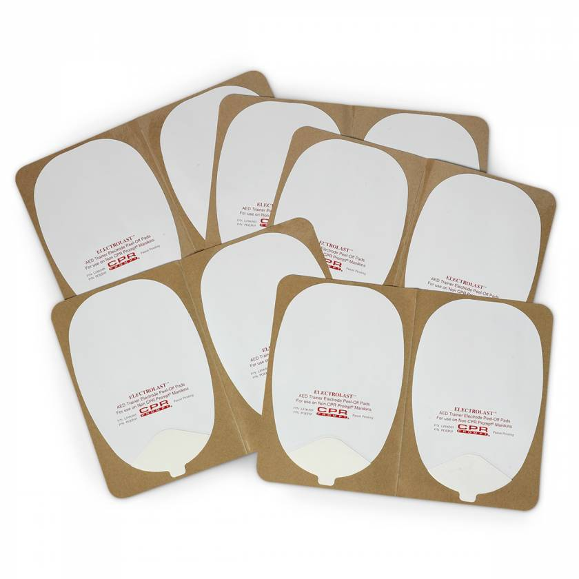 """ElectroLast AED Trainer """"Skin"""" Electrode Peel-Off Pads - Heartstream Style"""