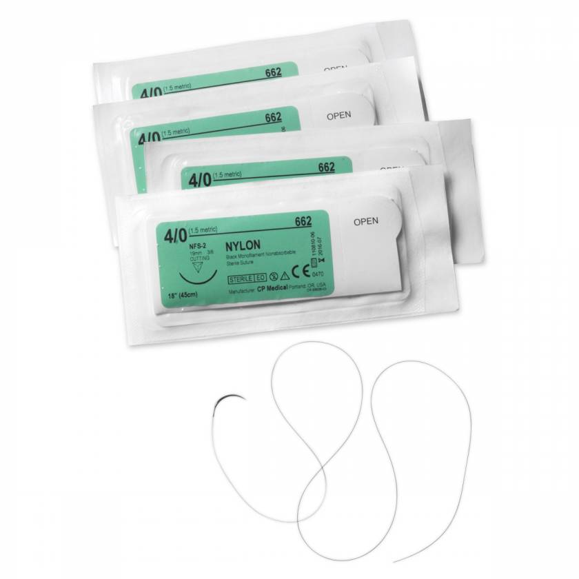 Suture Thread with Needle - Pkg. of 5