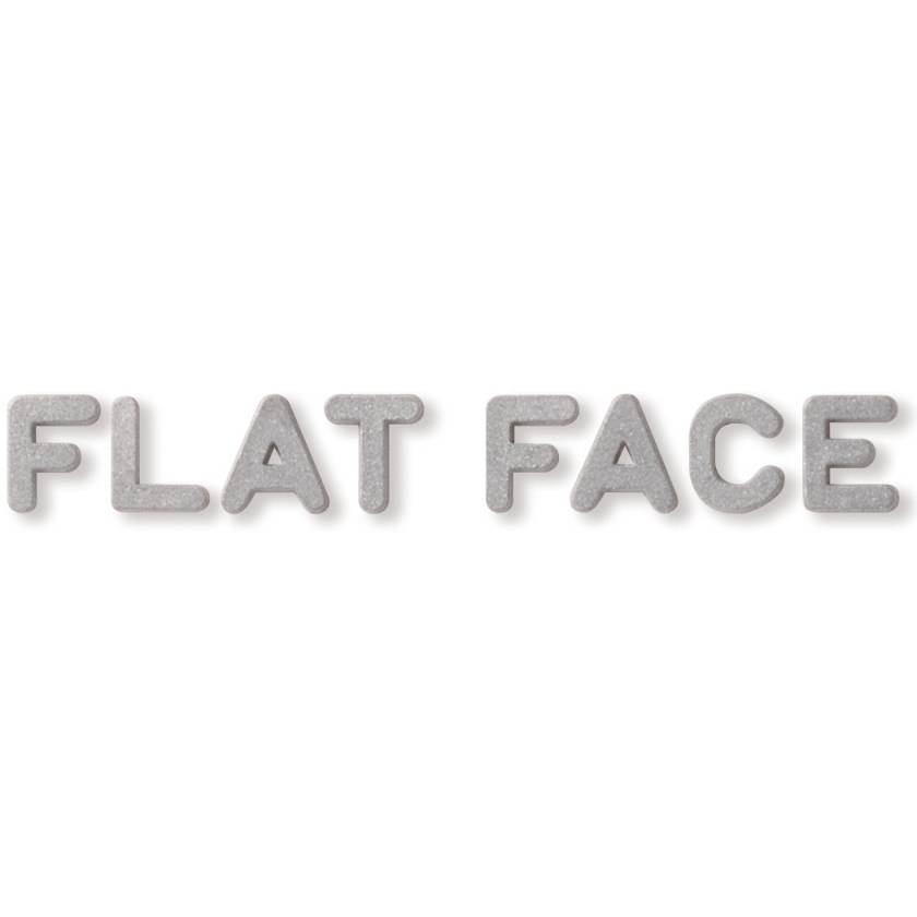 """Unmounted Flat Face Lead Character - 3/8"""" Height"""