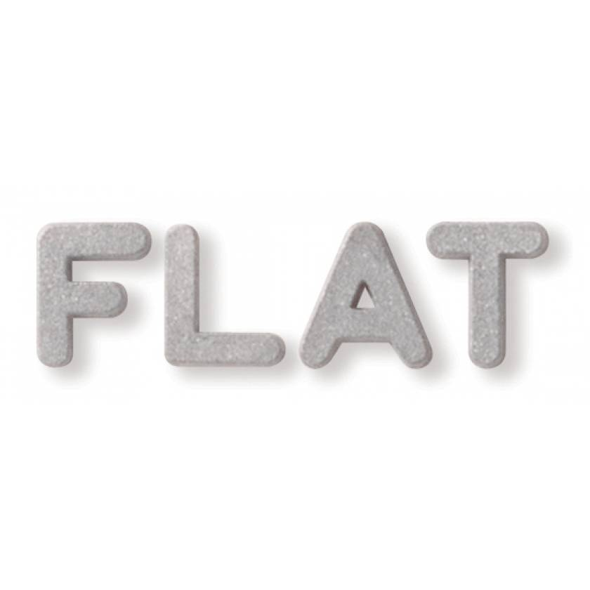 """1/2"""" Plastic Flat Face Lead Letter Mounted on 3/4""""H Vinyl Strip - 2 to 5 Characters"""