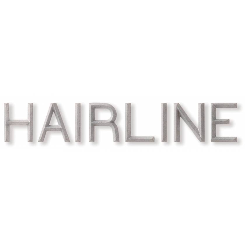 """Unmounted Hairline Lead Character - 3/8"""" Height"""