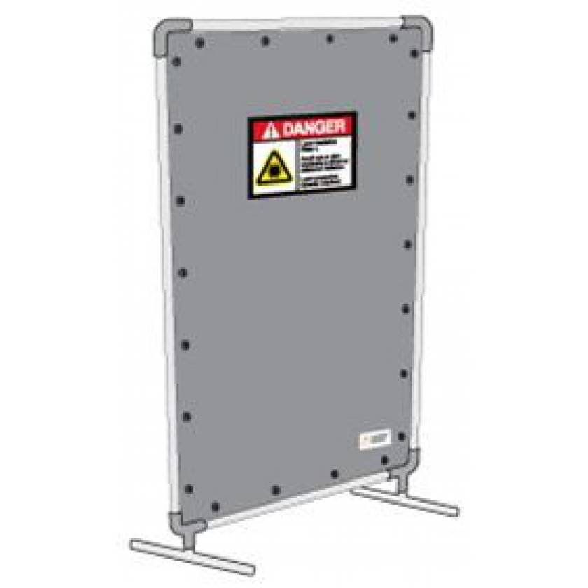 Mobile Laser Safety Barrier with Lockable Casters