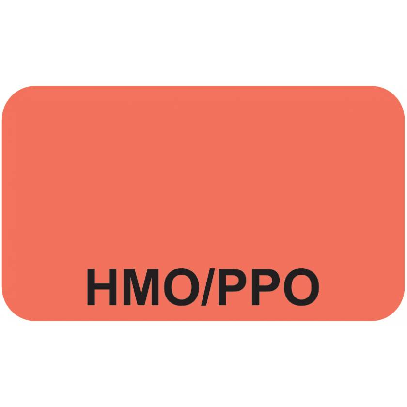 "HMO/PPO Label - Size 1 1/2""W x 7/8""H"