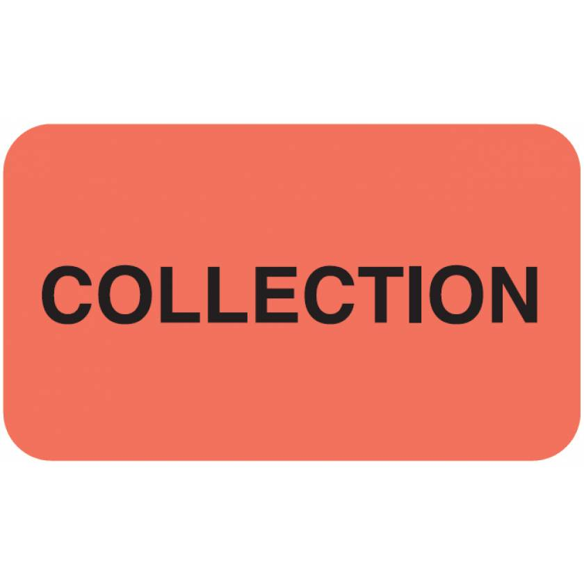 """COLLECTION Label - Size 1 1/2""""W x 7/8""""H"""