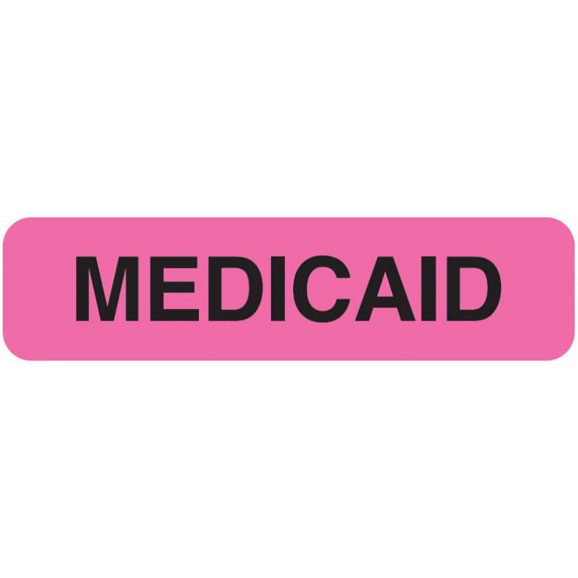 "MEDICAID Label - Size 1 1/4""W x 5/16""H"