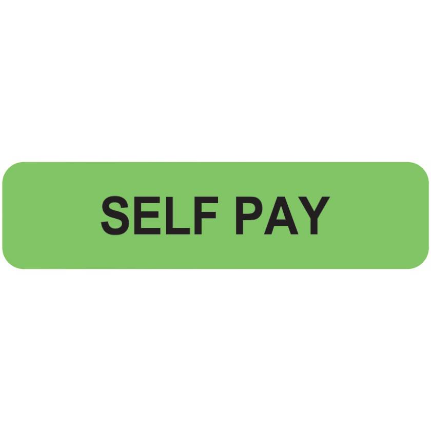 "SELF PAY Label - Size 1 1/4""W x 5/16""H"