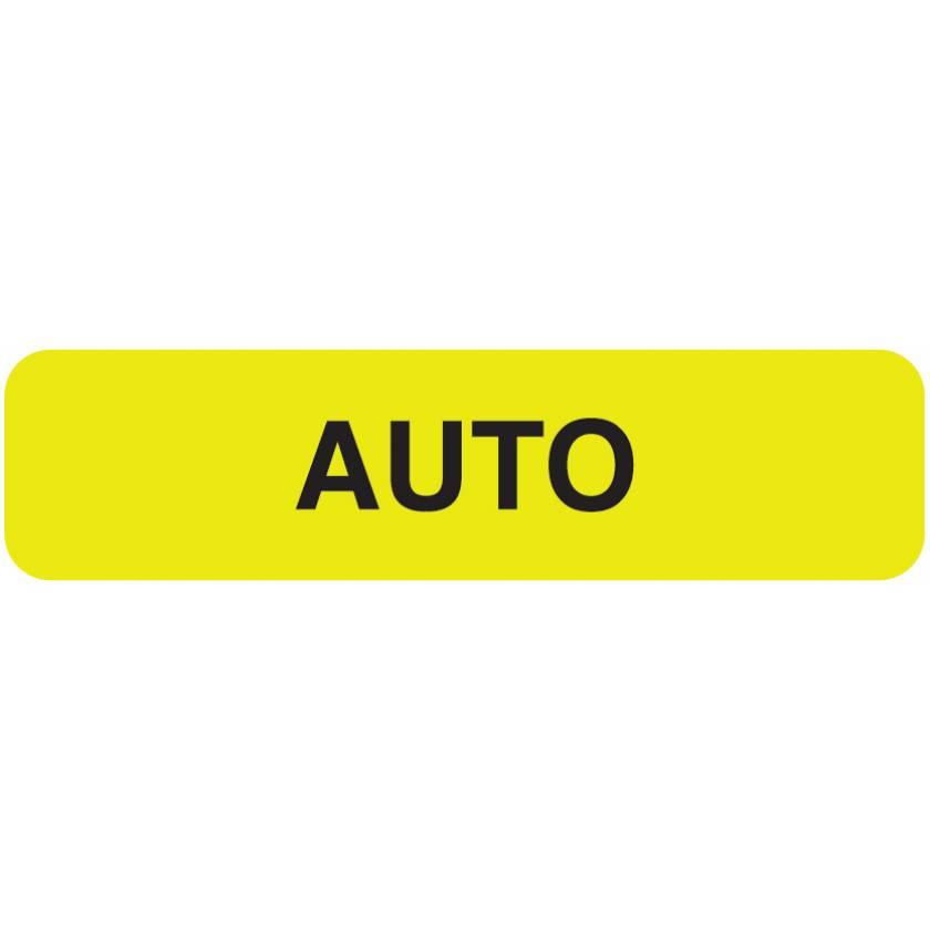 """AUTO Label - Size 1 1/4""""W x 5/16""""H"""