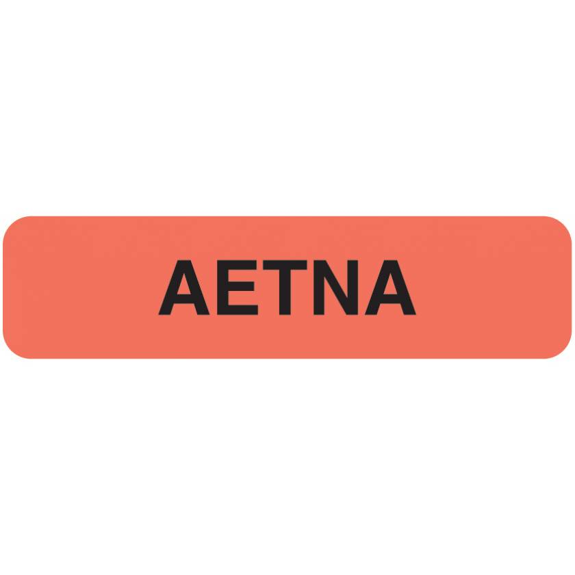 """AETNA Label - Size 1 1/4""""W x 5/16""""H"""