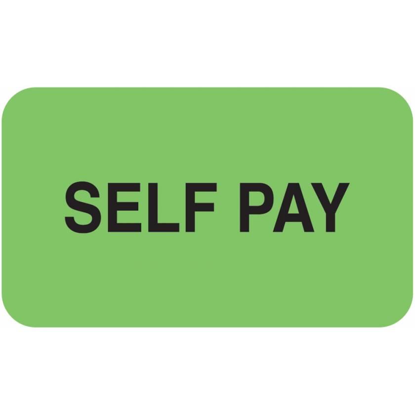 "SELF PAY Label - Size 1 1/2""W x 7/8""H"