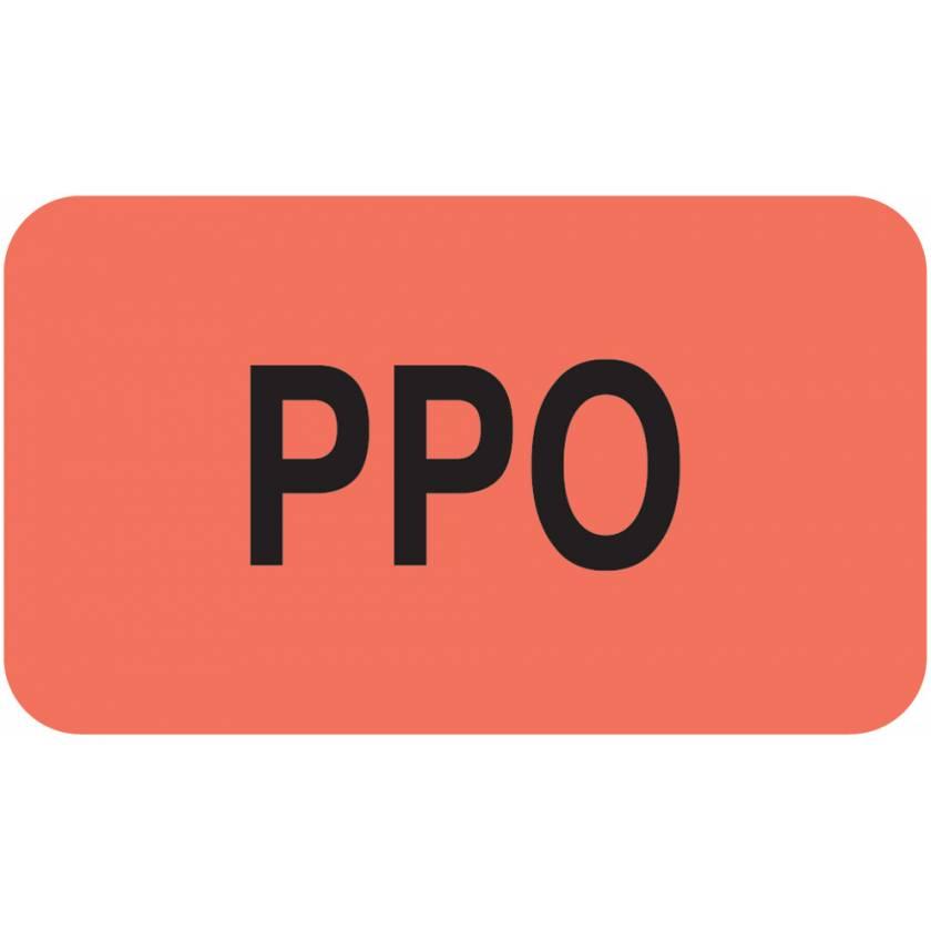 "PPO Label - Size 1 1/2""W x 7/8""H"