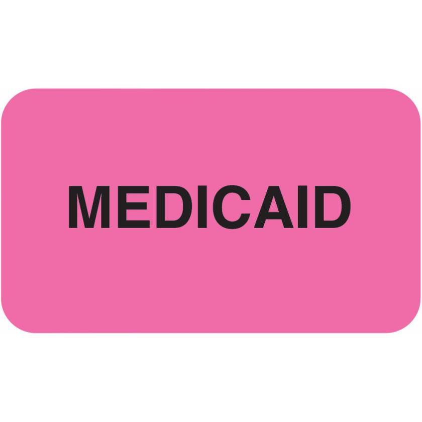 "MEDICAID Label - Size 1 1/2""W x 7/8""H"