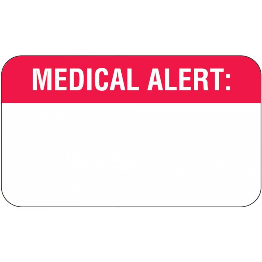"MEDICAL ALERT Label - Size 1 1/2""W x 7/8""H"