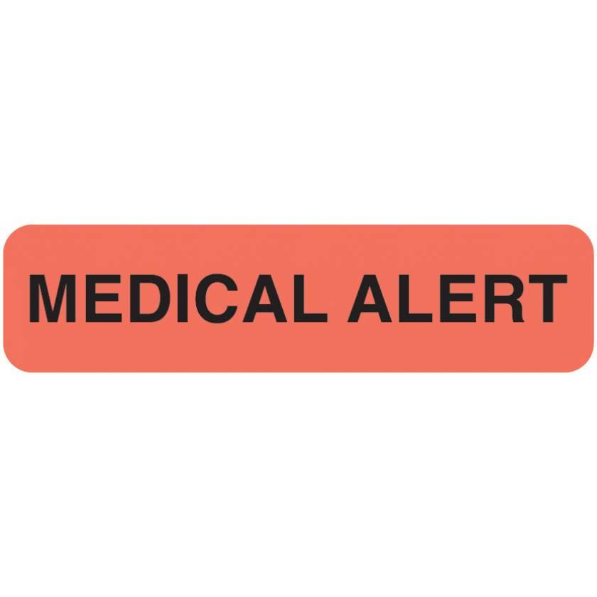 "MEDICAL ALERT Label - Size 1 1/4""W x 5/16""H"