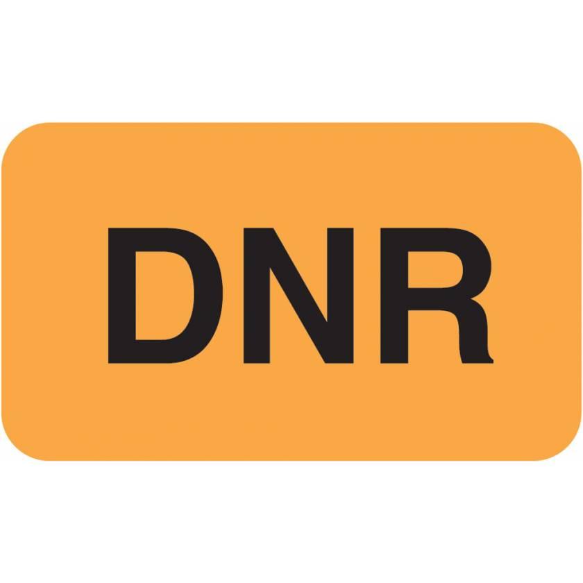 """DNR Label - Size 1 1/2""""W x 7/8""""H"""