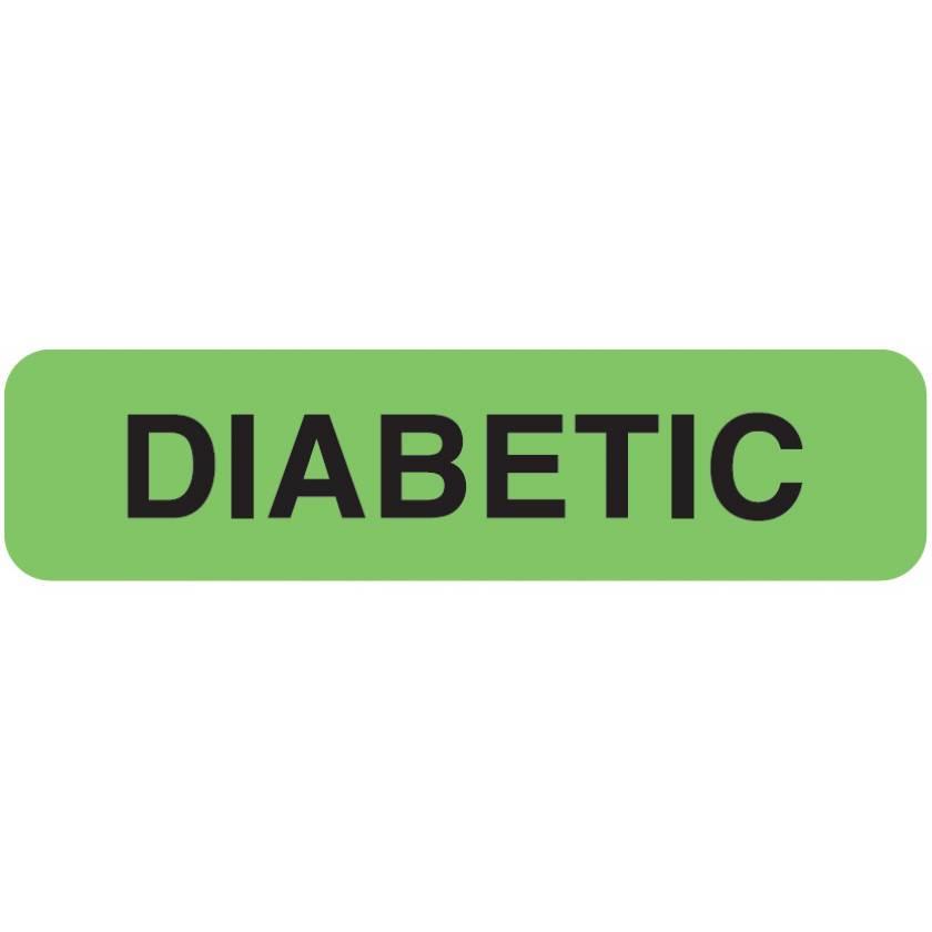"DIABETIC Label - Size 1 1/4""W x 5/16""H"