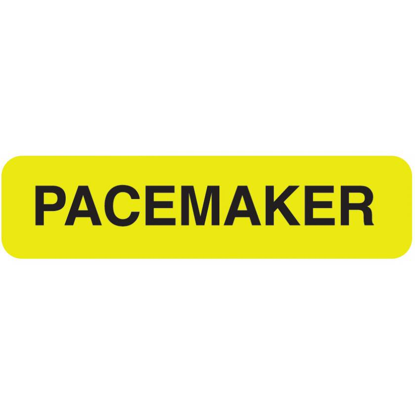 """PACEMAKER Label - Size 1 1/4""""W x 5/16""""H"""