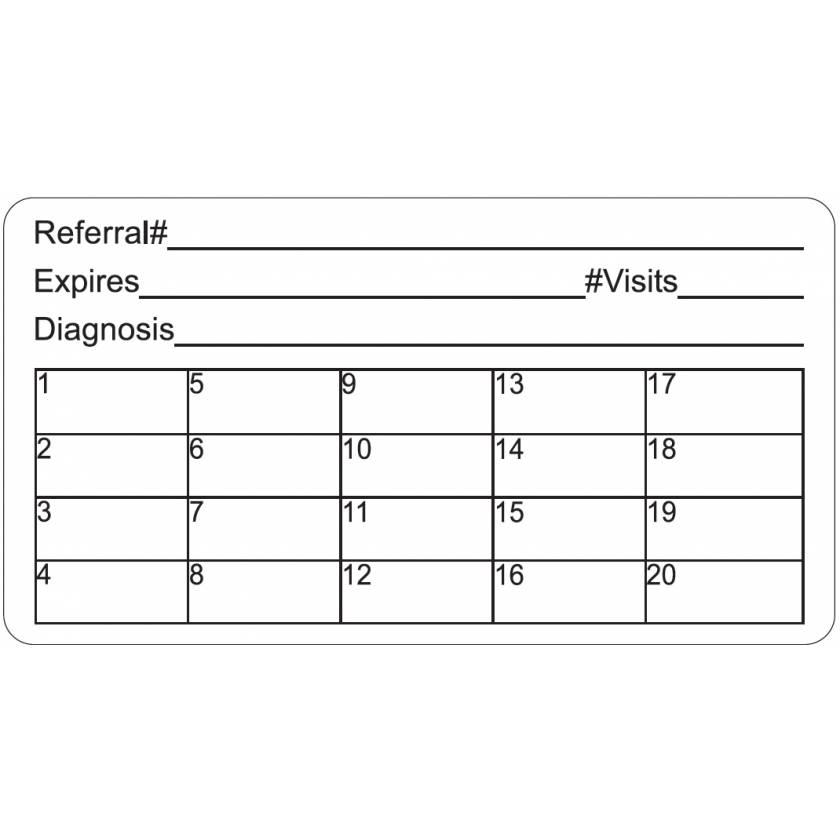 "REFERRAL#  Label - Size 3 1/4""W x 1 3/4""H"