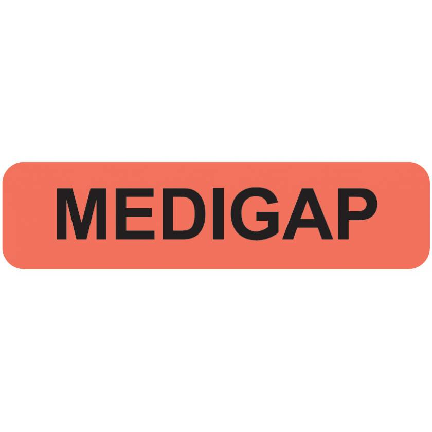 "MEDIGAP Label - Size 1 1/4""W x 5/16""H"