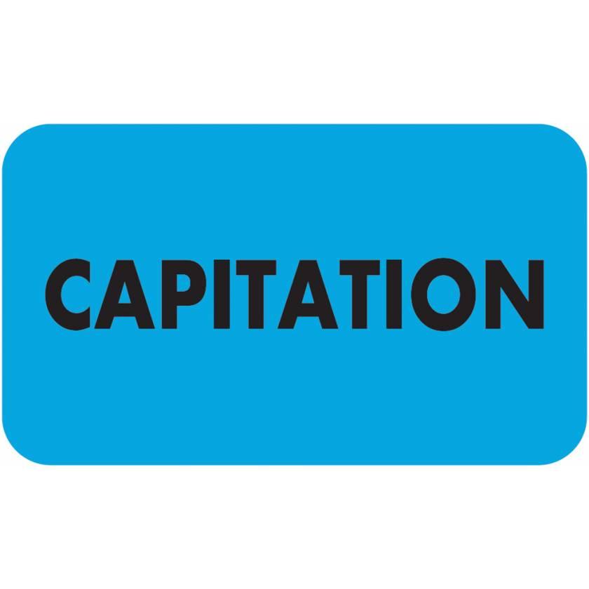 """CAPITATION Label - Size 1 1/2""""W x 7/8""""H"""