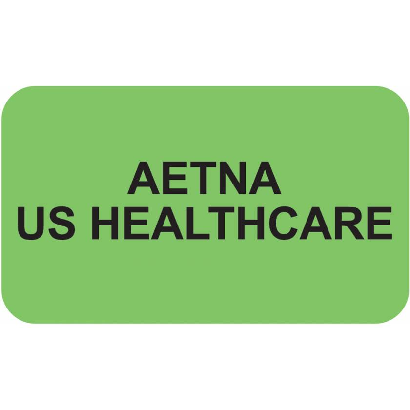 """AETNA US HEALTHCARE Label - Size 1 1/2""""W x 7/8""""H"""