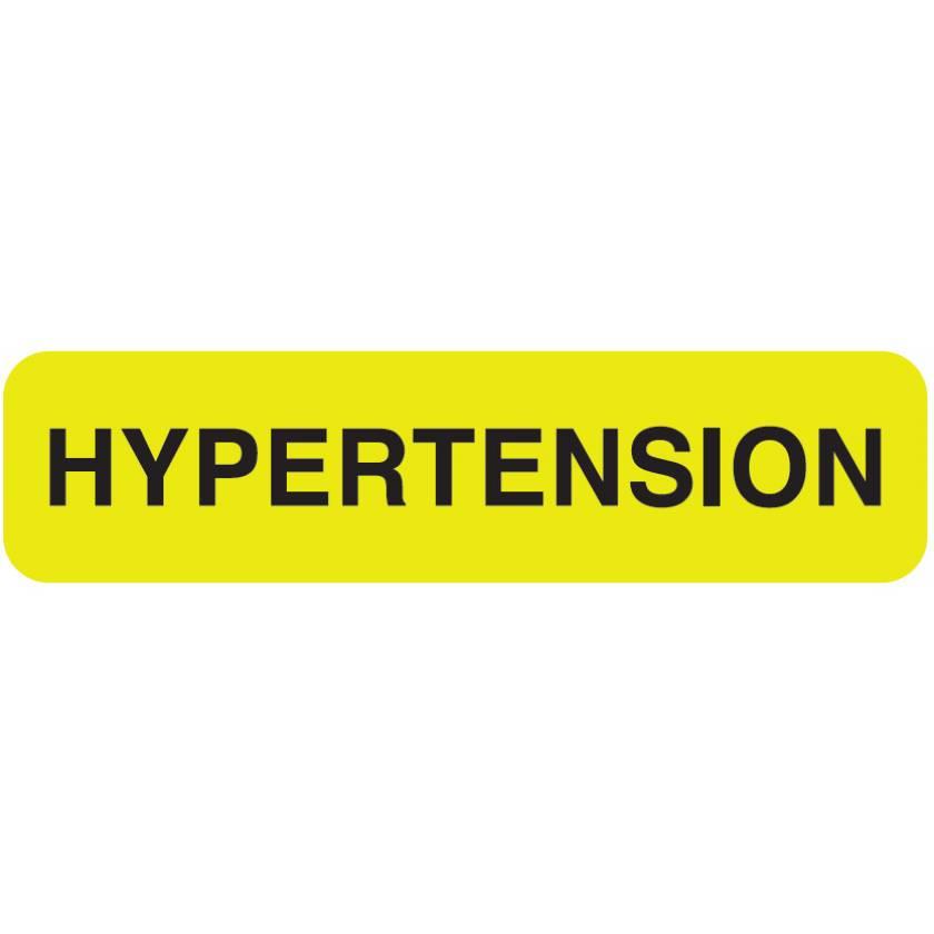 "HYPERTENSION Label - Size 1 1/4""W x 5/16""H"