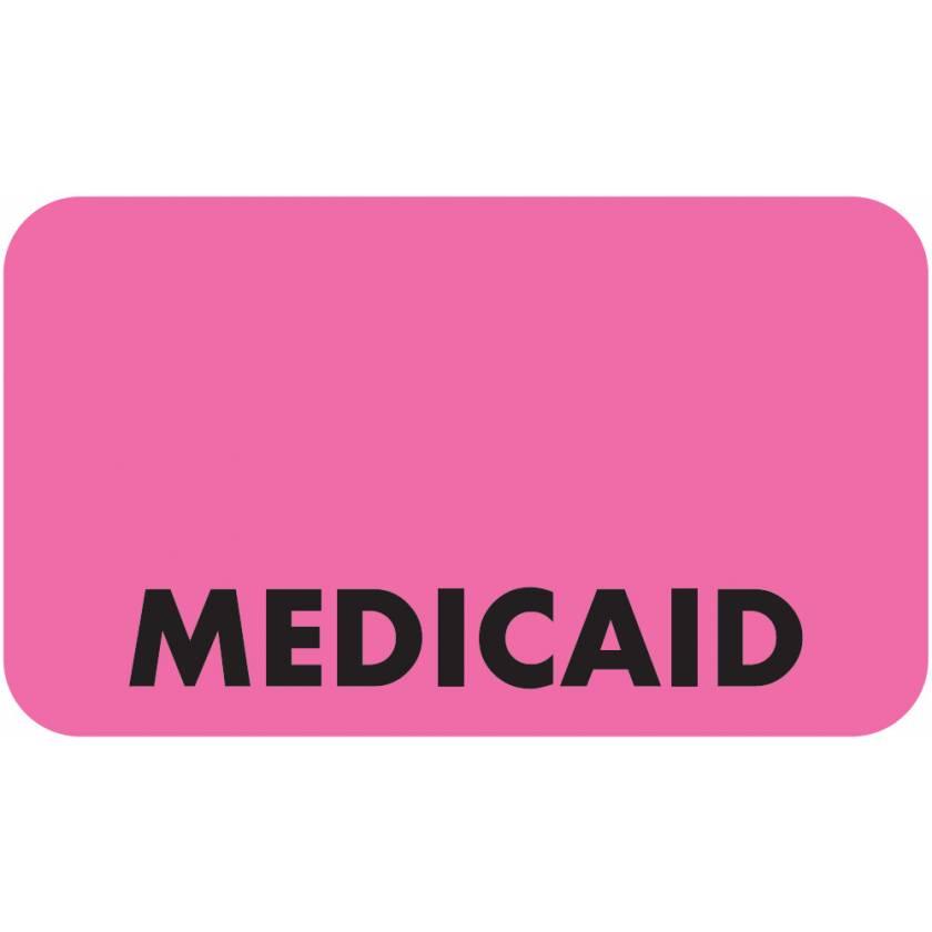 "MEDICAID Label - Size 1 1/2""W x 7/8""H"