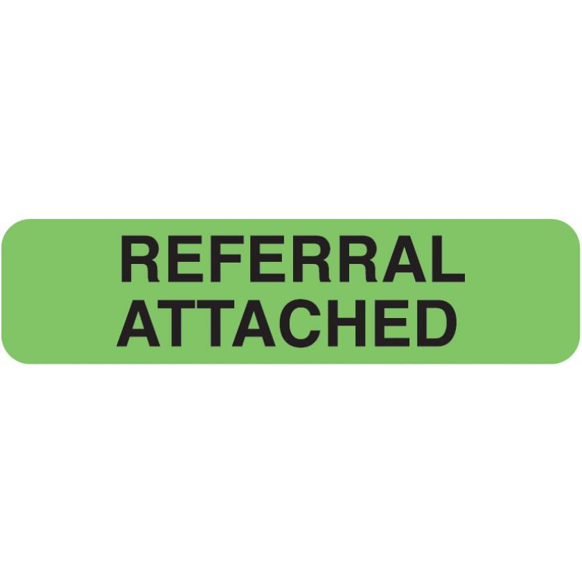 """REFERRAL ATTACHED Label - Size 1 1/4""""W x 5/16""""H"""