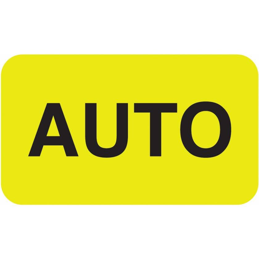 """AUTO Label - Size 1 1/2""""W x 7/8""""H"""
