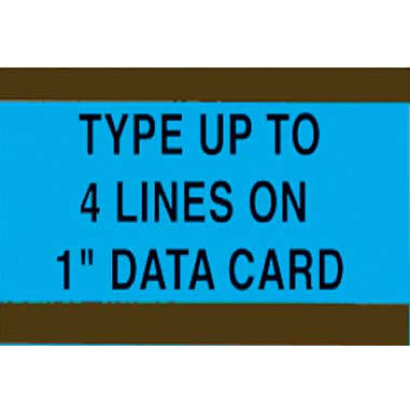 "Pre-Cut Magnetic Card Holders - 1"" H"