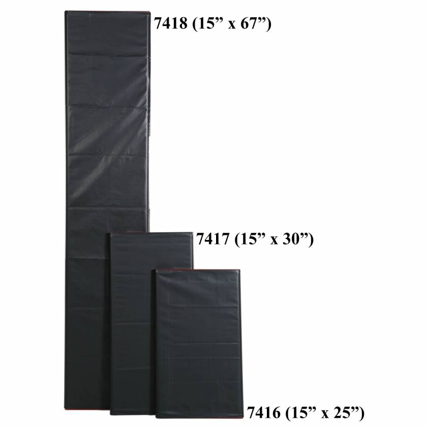 """Mid Central Medical Roll Aids: MCM123 (15""""x25""""), MCM125 (15""""x30"""") and MCM130 (15""""x67"""")"""