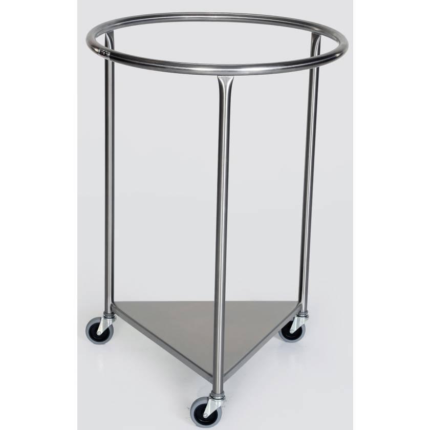 Stainless Steel Round Linen Hamper