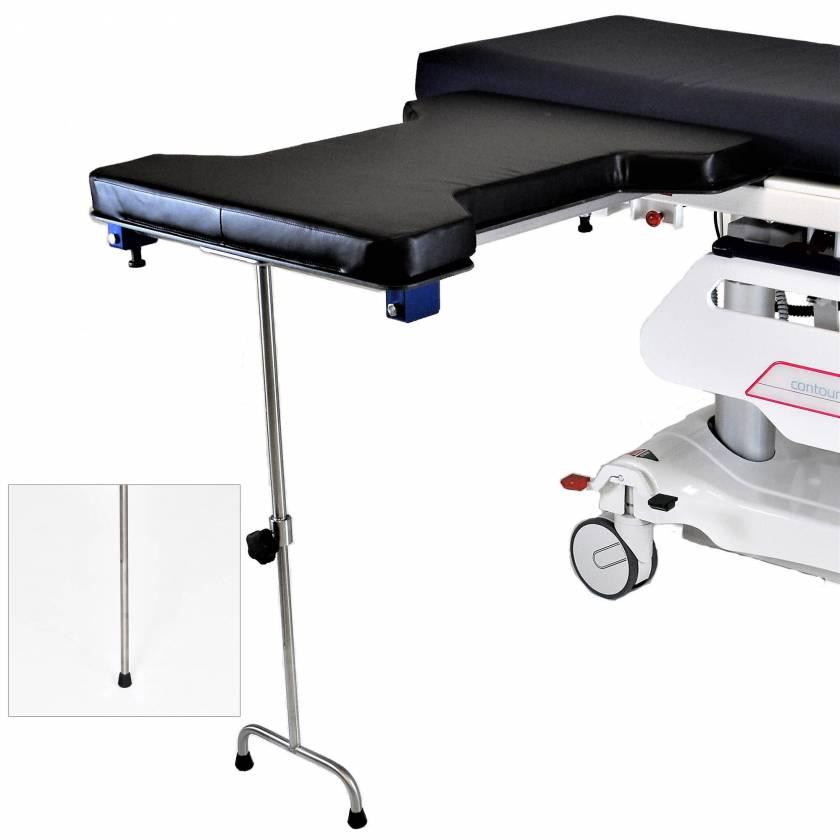 Under Pad Mount Phenolic Hourglass Arm & Hand Surgery Table: Single Leg (MCM337) or Double Leg (MCM338)