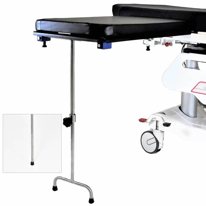 Under Pad Mount Carbon Fiber Arm & Hand Surgery Table: Single Leg (MCM342) or Double Leg (MCM343)