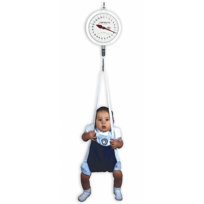 Dial Baby Scale with Hanging Sling Seat 25 kg Capacity