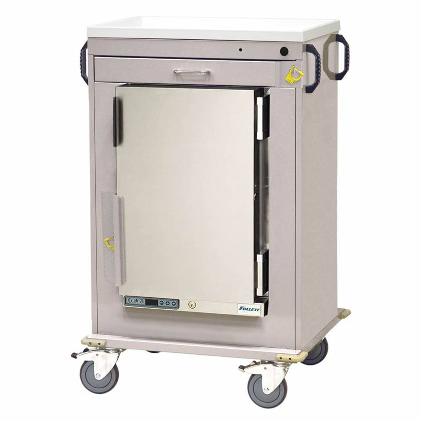 Harloff Model MH4100B Malignant Hyperthermia Cart with 1.8 Cubic Feet Follett Refrigerator, One Drawer, & Breakaway Lock