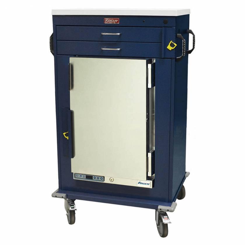 Harloff Model MH4200B Malignant Hyperthermia Cart with 1.8 Cubic Feet Follett Refrigerator, Two Drawers, Breakaway Lock