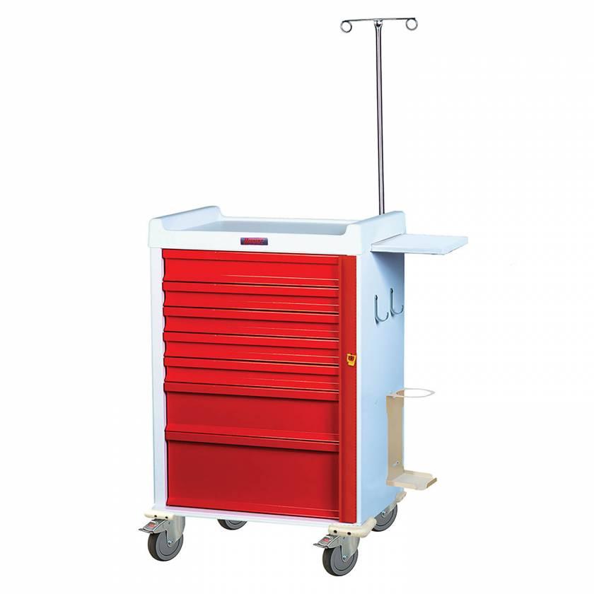 MRI Emergency Cart 7 Drawer - Specialty Package with Breakaway Lock