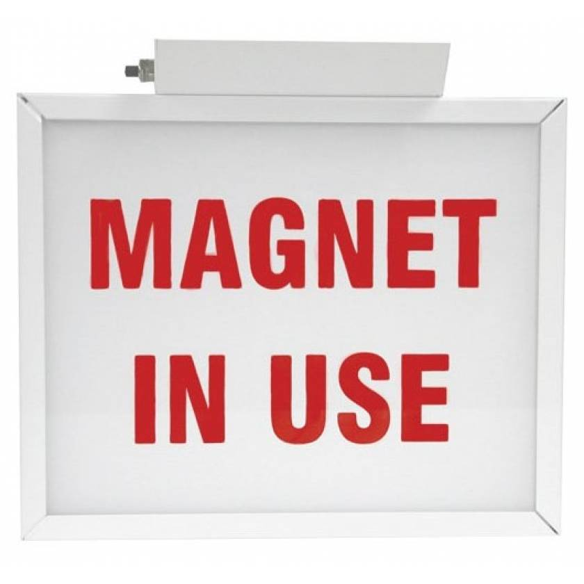 """""""Magnet In Use"""" Light-Up Wall Sign"""