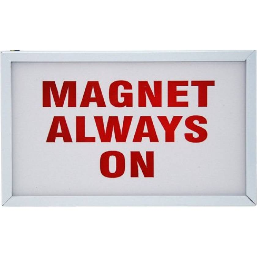"""""""Magnet Always On"""" Light-Up Wall Sign"""