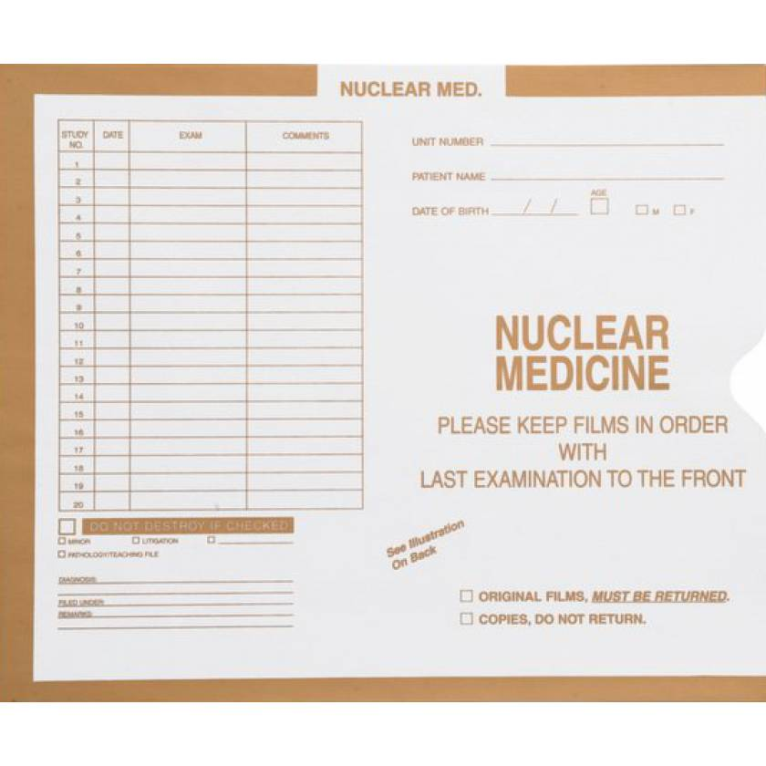 Mini Insert Envelope - Nuclear Medicine
