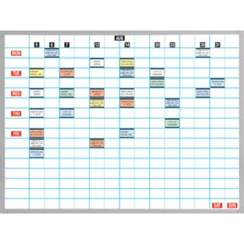 "Magnetic Work/Planning Board Kits (2"" x 3"" Vertical Accented Grid Lines)"