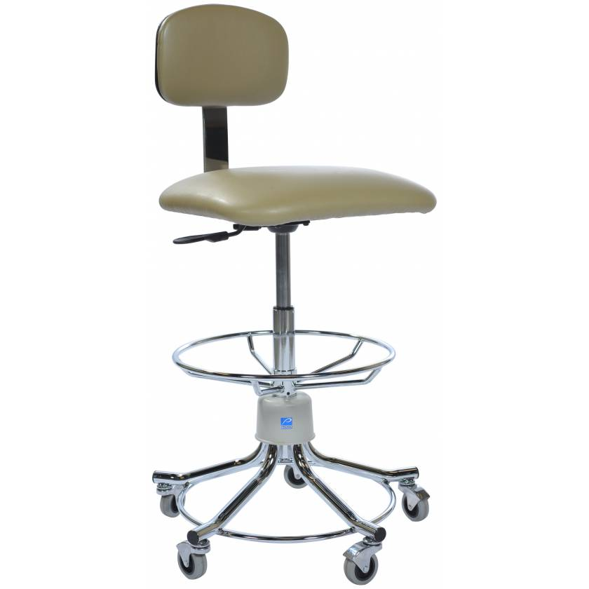 Pedigo Hand Pneumatic Adjustable Lab Stool with Backrest