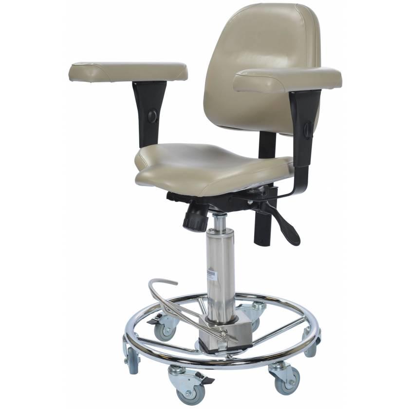 Pedigo Hydraulic Surgeons Stool With Backrest & Armrests