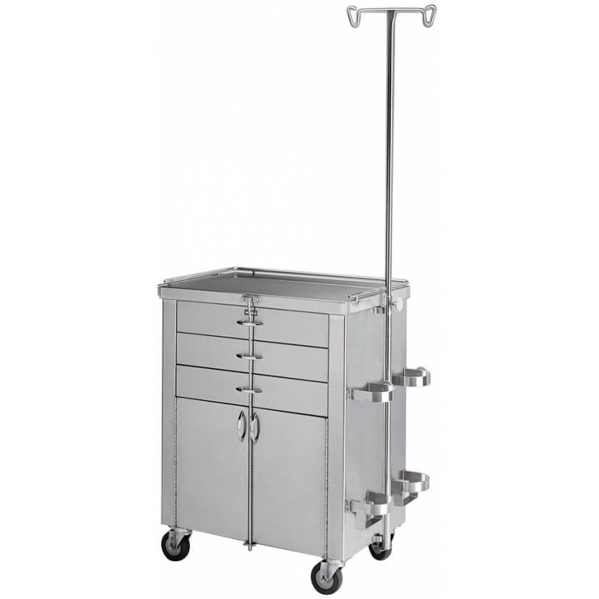 Pedigo Stainless Steel Cardiac and Anesthetist Cabinet