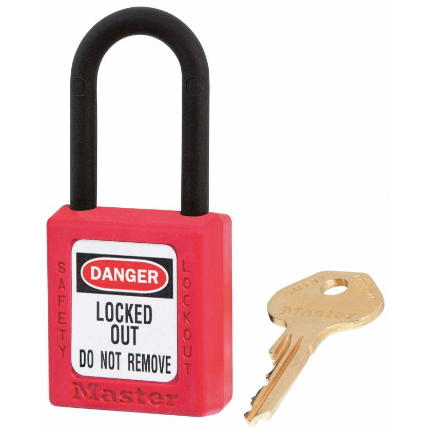 MRI Non-Magnetic Safety Padlock - Red